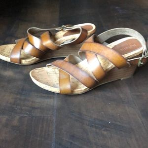 Brown Wedge Sandals from Relativity. Size 9.